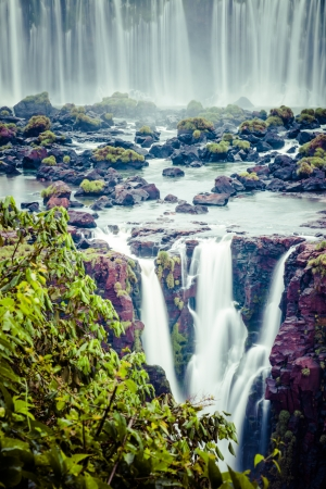 Iguassu Falls, the largest series of waterfalls of the world, view from Brazilian side  photo