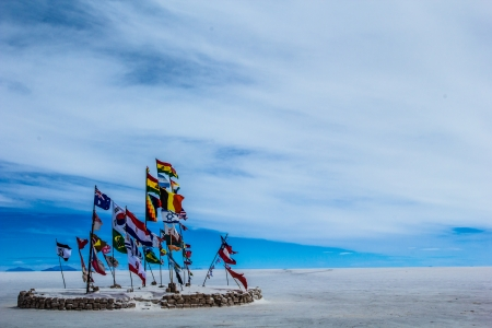 salt flat: Salar de Uyuni (Salt Flat), Bolivia  Stock Photo