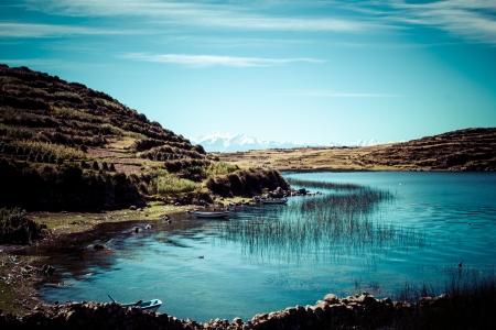 sol: Isla del Sol on the Titicaca lake, Bolivia.