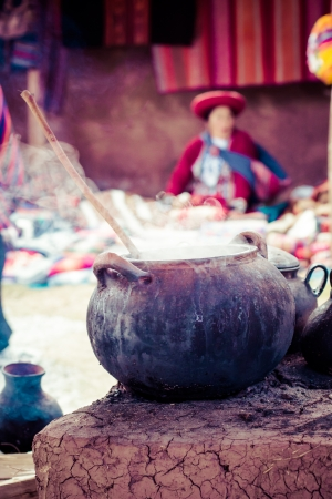 Traditional village in Peru, South America.  photo