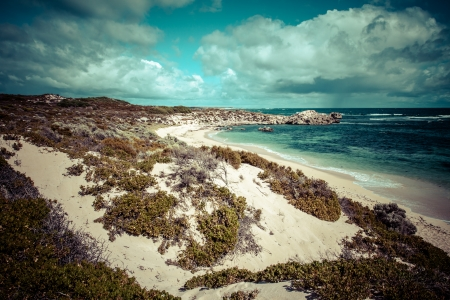 Scenic view over one of the beaches of Rottnest island  photo