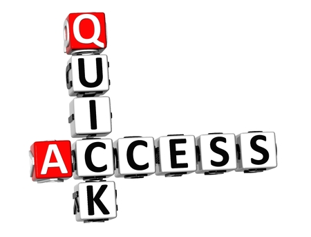 3D Quick Access Crossword on white background  photo