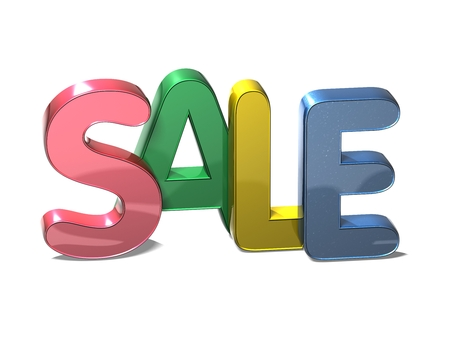 wariety: 3D Word Sale on white background Stock Photo