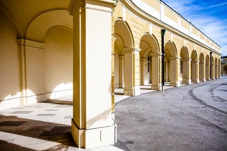 elisabeth: VIENNA, AUSTRIA - JUNE 17: Schonbrunn Palace on March, 20, 2014 in Vienna, Austria. It was a royal residence of Franz Joseph and Elisabeth