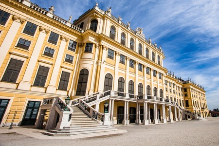 ourdoor: VIENNA, AUSTRIA - JUNE 17: Schonbrunn Palace on March, 20, 2014 in Vienna, Austria. It was a royal residence of Franz Joseph and Elisabeth
