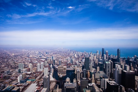 Chicago Skyline Aerial View photo