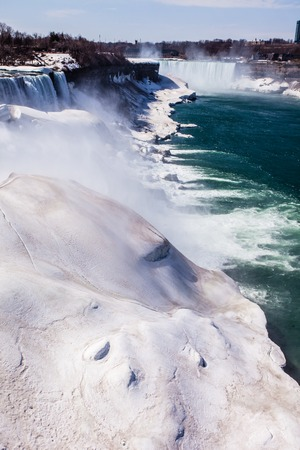 Niagara Falls in winter.  photo