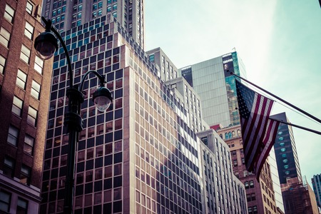 wall street: The architectural appearance of the streets of New York
