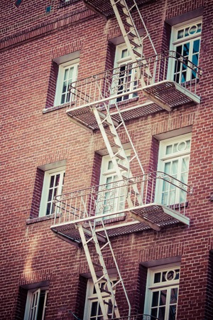 Fire escape on an old building  photo