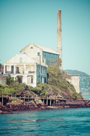 san fran: Alcatraz Island in San Francisco, USA Stock Photo