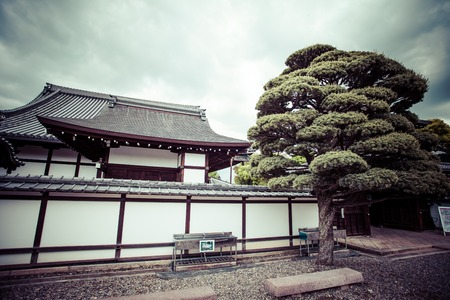 Kyoto, garden and temple photo