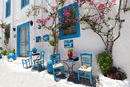Beautiful restaurant in Kos town. Stock Photo