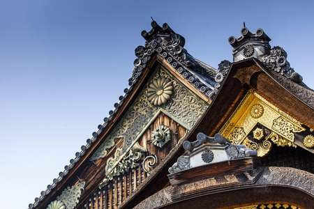 nijo: The Nijo-jo Castle in Kyoto, Japan. Editorial