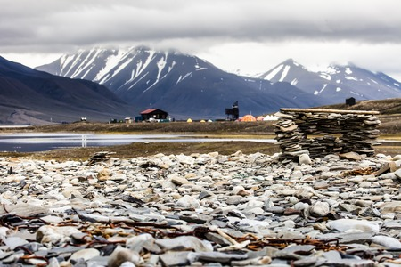 inclement weather: Beautiful scenic view of Spitsbergen (Svalbard island), Norway