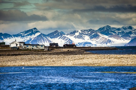 svalbard: Beautiful scenic view of Spitsbergen (Svalbard island), Norway