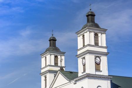 postwar: Church of St. Alexander in Suwalki. Poland Stock Photo