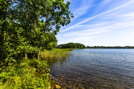 the deepest: Lake Hancza. The deepest lake in central and eastern Europe. Poland  Stock Photo