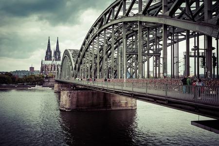 rhine westphalia: Cologne Cathedral and Hohenzollern Bridge, Cologne, Germany