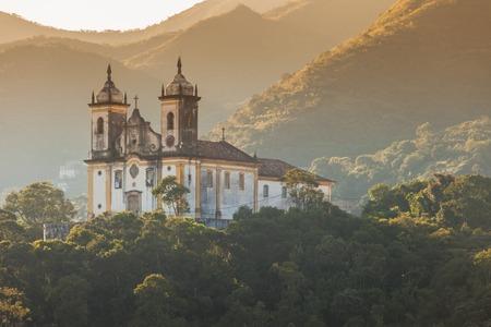 church architecture: View of the city of Ouro Preto in Minas Gerais Brazil