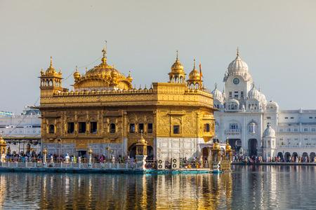 sanskrit: Sikh gurdwara Golden Temple (Harmandir Sahib). Amritsar, Punjab, India
