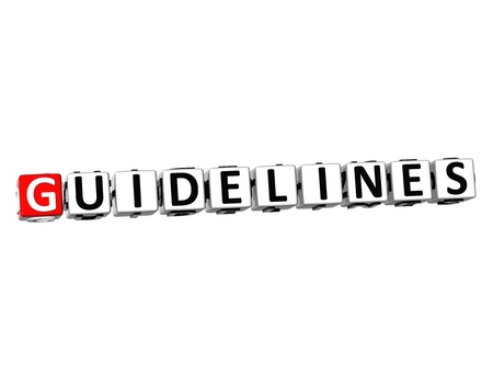 guidelines: 3D Word Guidelines on white background