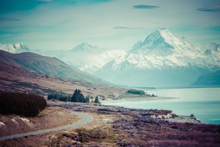 Cinematic Camino a Monte Cook, Nueva Zelanda.