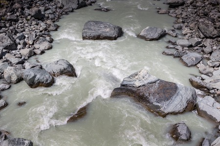 Hooker River in Aoraki national park New Zealand photo