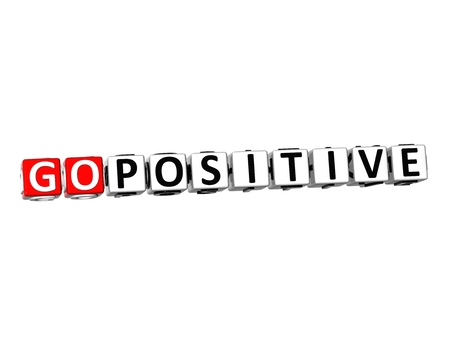 powerful creativity: 3D Word Go positive on white background