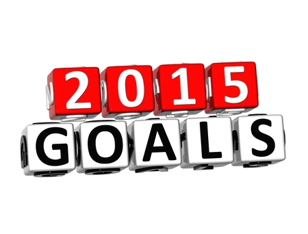 attain: 3D Word Goals 2015 on white background Stock Photo