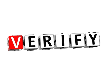 3D Word Verify on white background