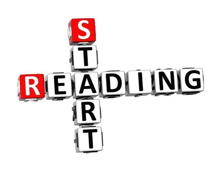 crossword: 3D Crossword Start Reading on white background