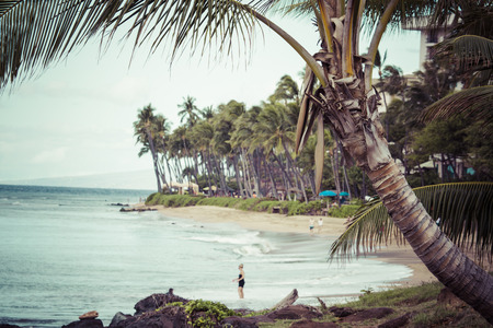 hawaii sunset: Kaanapali Beach, Maui Hawaii Tourist Destination