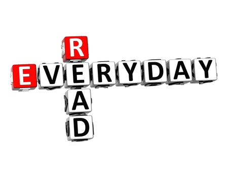 shrewd: 3D Crossword Read Everyday on white background Stock Photo