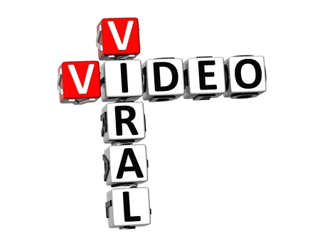 bookmarking: 3D Crossword Viral Video on white background