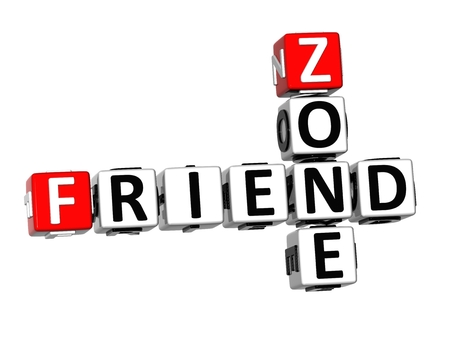 chatty: 3D Crossword Friend Zone on white background