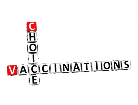 antigenic: 3D Crossword Choice Vaccinations on white background