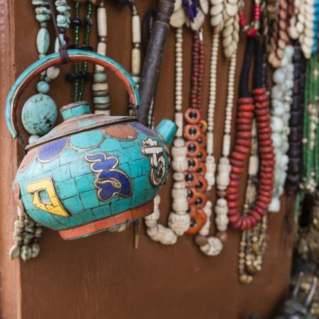 souvenir traditional: Traditional souvenir in Nepal.