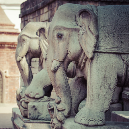 going places: Temples of Durbar Square in Bhaktapur, Kathmandu, Nepal.