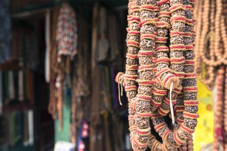 souvenir traditional: Traditional souvenir in local Nepal market.