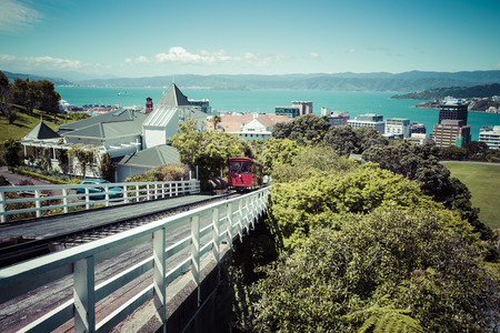 View of the Wellington, New Zealand
