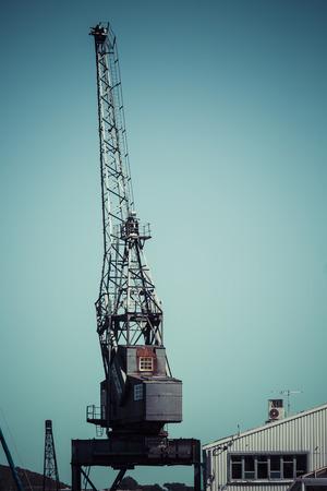 dockside: Dockside crane,Wellington harbour New Zealand.
