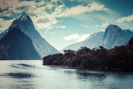 fiordland: Milford Sound, Fiordland, New Zealand.