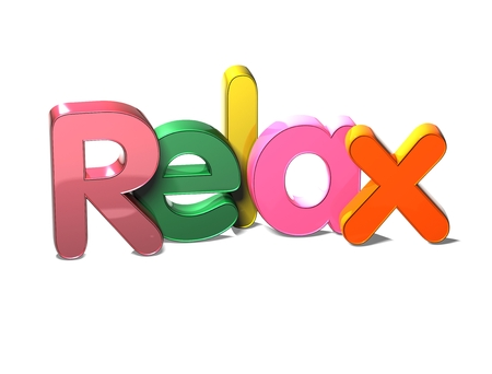 wariety: 3D Colorful Word Relax on white background