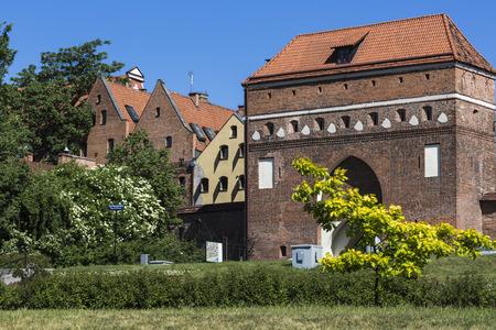 torun: Traditional architecture in famous polish city, Torun, Poland.