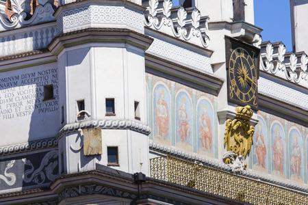 poznan: Town Hall in Poznan, Poland Stock Photo