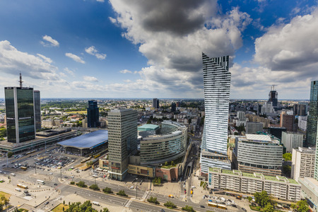 warszawa: View from the observation deck of the Palace of Culture and Science.Warsaw,Poland. Stock Photo