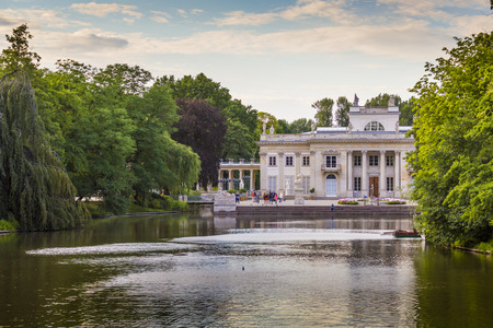 lazienki: WARSAW, POLAND - JULY 08, 2015: The Lazienki palace in Lazienki Park, literally Baths Park or Royal Baths; often rendered Royal Baths Park- largest park in Warsaw