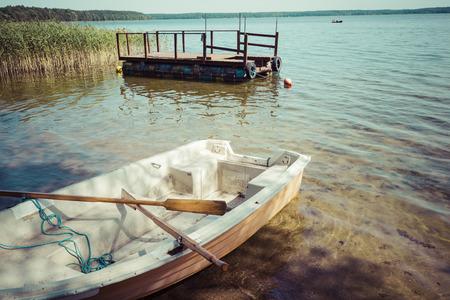 masuria: Goldopiwo lake on Masuria in Poland. Stock Photo