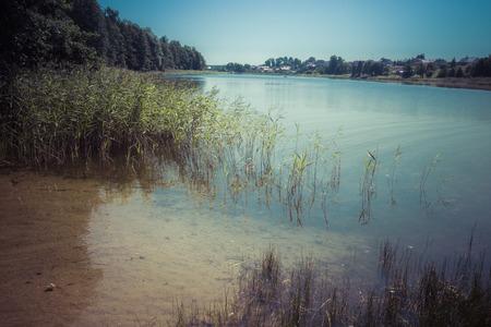 masuria: Wydminy lake on Masuria in Poland.