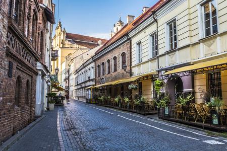 vilnius: Vilnius oldtown street ,Lithuania